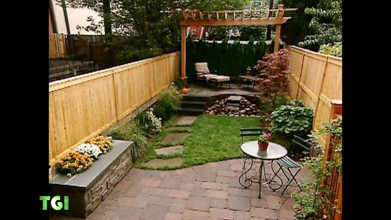 60 Cool Small Backyard Landscaping Ideas - YouTube on Backyard Lawn Designs id=58592