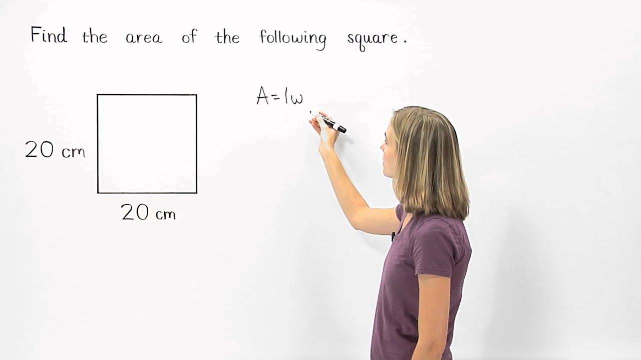 Area Of A Square Mathhelpcom Youtube