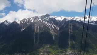 Cable Car from Chamonix to Mont Blanc 1st station in 4K