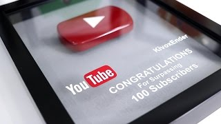 DIY Play Button , Thank you All for 100 Subscribers