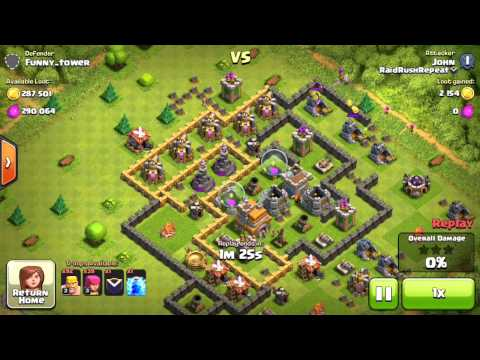 Clash Of Clans | High Loot Raids & Notification Video | Attacks From The Clan