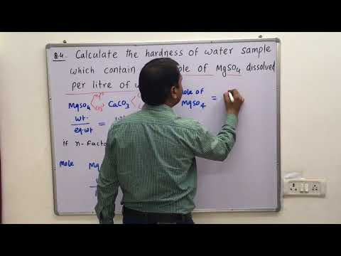 Numericals Of Degree Of Hardness  Of Water