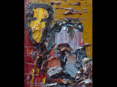 nn47 oil painting acrylic modern abstract artwork NYC gallery expressionist thick painting.