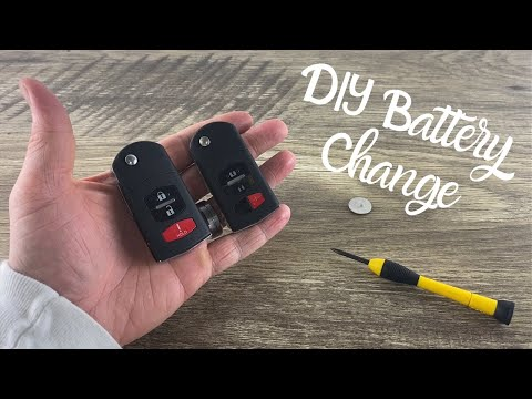 How To Change A Mazda Remote Fob Flip Key Battery CX-7, CX-9, 6, 5, 3, 2, RX-8 DIY Replace Tutorial