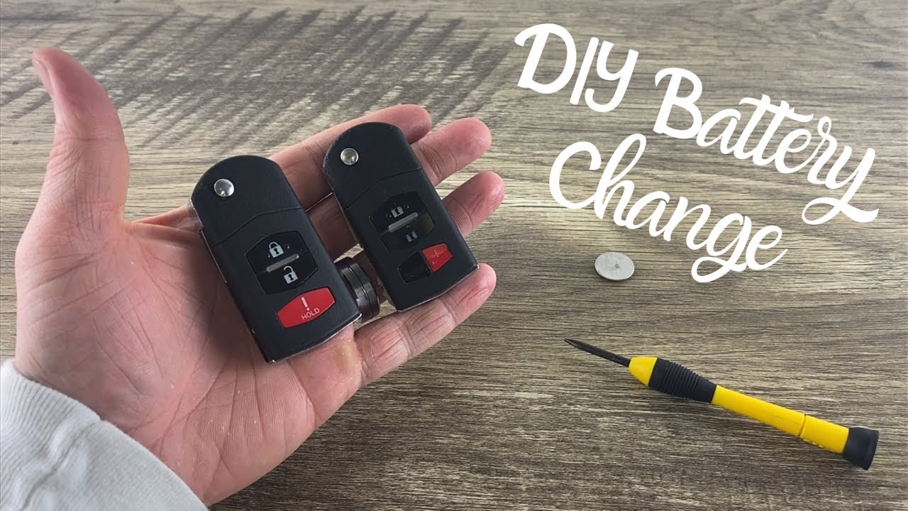 how to change a mazda remote fob flip key battery cx7 cx