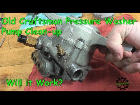 Old Craftsman Pressure Washer Pump Repair Will It Work