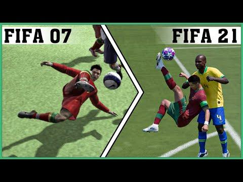 CRISTIANO RONALDO bicycle kick evolution [FIFA 07 - FIFA 21] thumbnail
