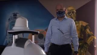 Robot Cruzr Prévention avec fonction détection de masques