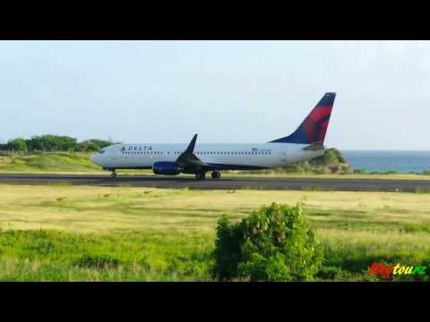 Delta 737-800 Taking off from Grenada 1080p [HD]