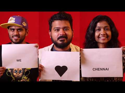 Chennai gave me a Home - Happy Chennai day