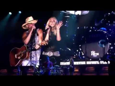 You and Tequila then sings The Fireman - Kenny Chesney & Miranda Lambert