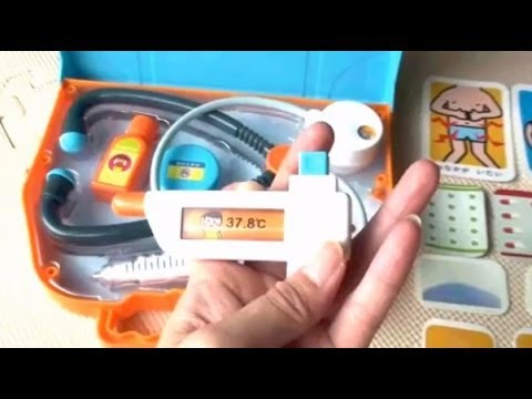 Shimajiro Oishasan Set★しまじろう おもちゃ おいしゃさんせっと がたのしい!