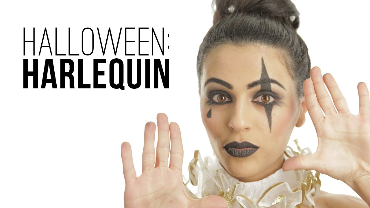 halloween harlequin makeup tutorial with teni. Black Bedroom Furniture Sets. Home Design Ideas