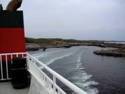 Utazás Norvégiába - kis komp Bergen felé