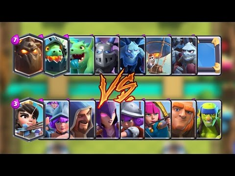 Air vs Ground Troops Clash Royale Challenge | Epic Battle