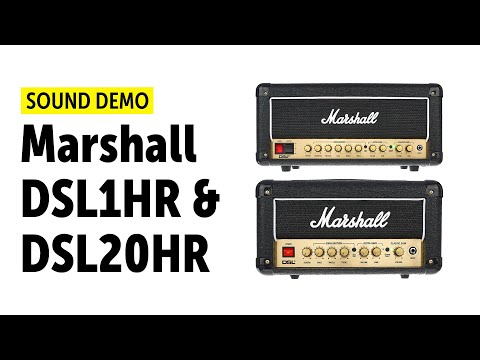 Marshall DSL1HR & DSL20HR Sound Demo (no talking)