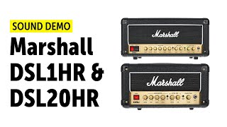 Marshall DSL1HR & DSL20HR Sound Demo (no talking)