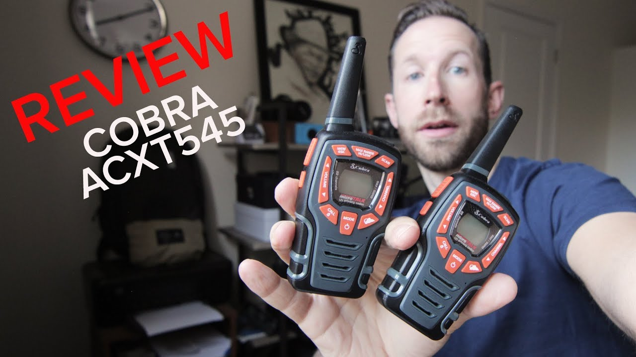 Review Cobra Acxt545 Walkie Talkies Youtube