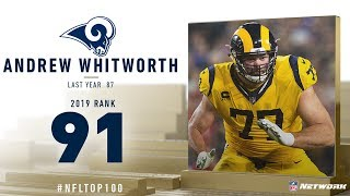 #91: Andrew Whitworth (OT, Rams) | Top 100 Players of 2019 | NFL