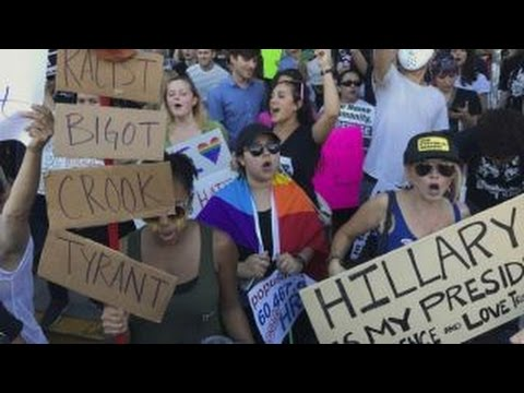 Anti-Trump protests going too far?