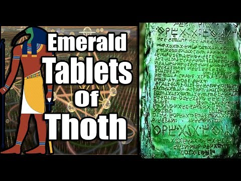 The Ancient History Of The Emerald Tablets Of Thoth #egypt