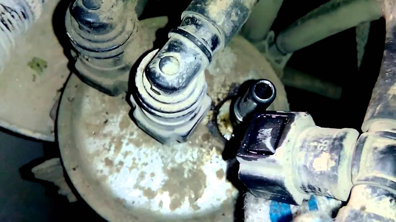 как заменить топливный фильтр на киа бонго 3
