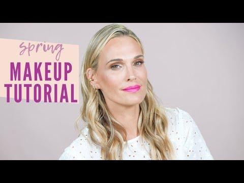 Patrick Ta Inspired Spring Makeup Tutorial | Molly Sims thumbnail