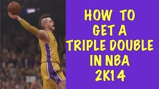 How to get a Triple Double NBA 2K14 (Works for 2K15) : : Points, Assists, Blocks, Rebounds, Steals.