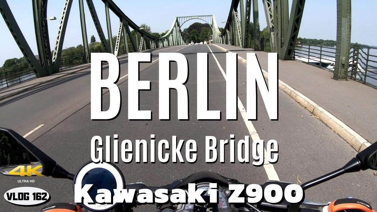 Ride with Kawasaki Z900 to Glienicke Bridge (Berlin/Potsdam) - VLOG159 [4K]