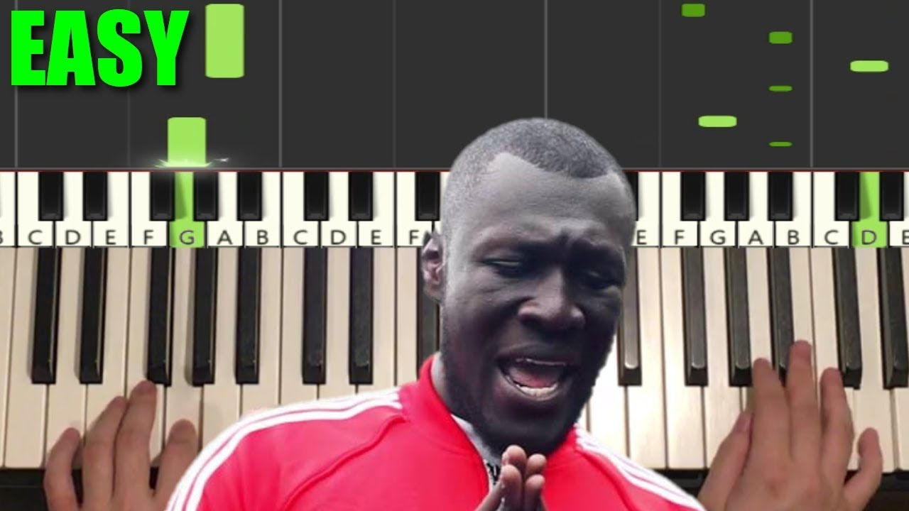 STORMZY - VOSSI BOP (EASY Piano Tutorial Lesson)