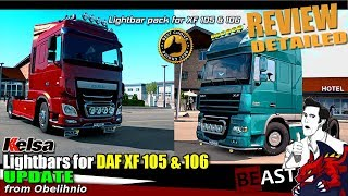 "[""ETS2"", ""Euro Truck Simulator 2"", ""tuning mod"", ""Kelsa Lightbars for DAF XF 105 106 v1.41 by Obelihnio"", ""Kelsa"", ""Obelihnio""]"