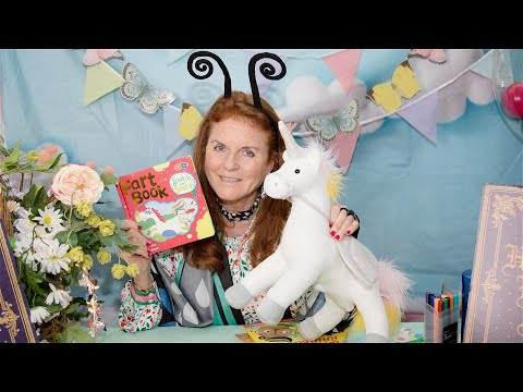 Sarah Ferguson reading Scratch and Sniff: Unicorn Fart Book by Buddy and Barney