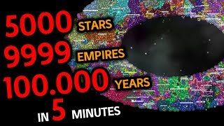Galimulator - Empire Simulation Game | 5000 Stars 100.000 Years in 5 minutes
