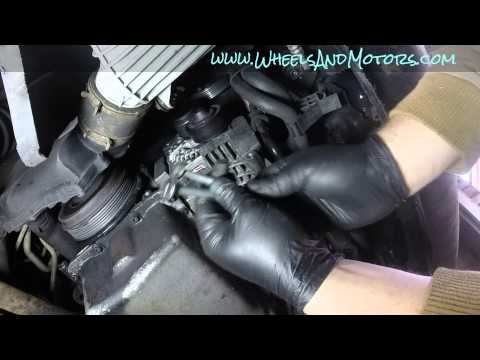 How to replace alternator on VW Golf Mk4 1.9tdi (non PD engine)