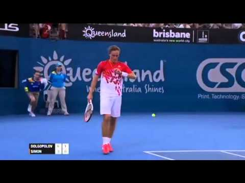 Alexandr Dolgopolov v Gilles Simon - Men's Singles Semi Final: Brisbane International 2012