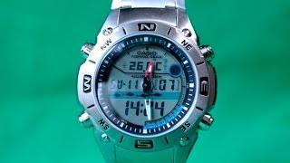 Casio AMW-702D-7A   Обзор и настройка рыболовных часов (на русском)   Купить со скидкой