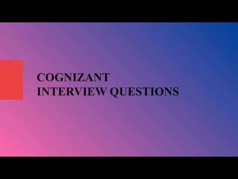 Cognizant Interview Questions For Freshers || Top 100 + CTS TR & HR Round Questions