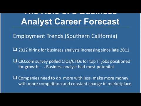 The Role of a Business Analyst A Career Forecast (3/14/2012)