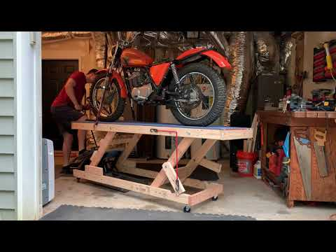 DIY Wooden Motorcycle Lift for Under $170