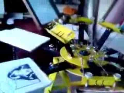 Mesin sablon rotary yansen 6 to 6