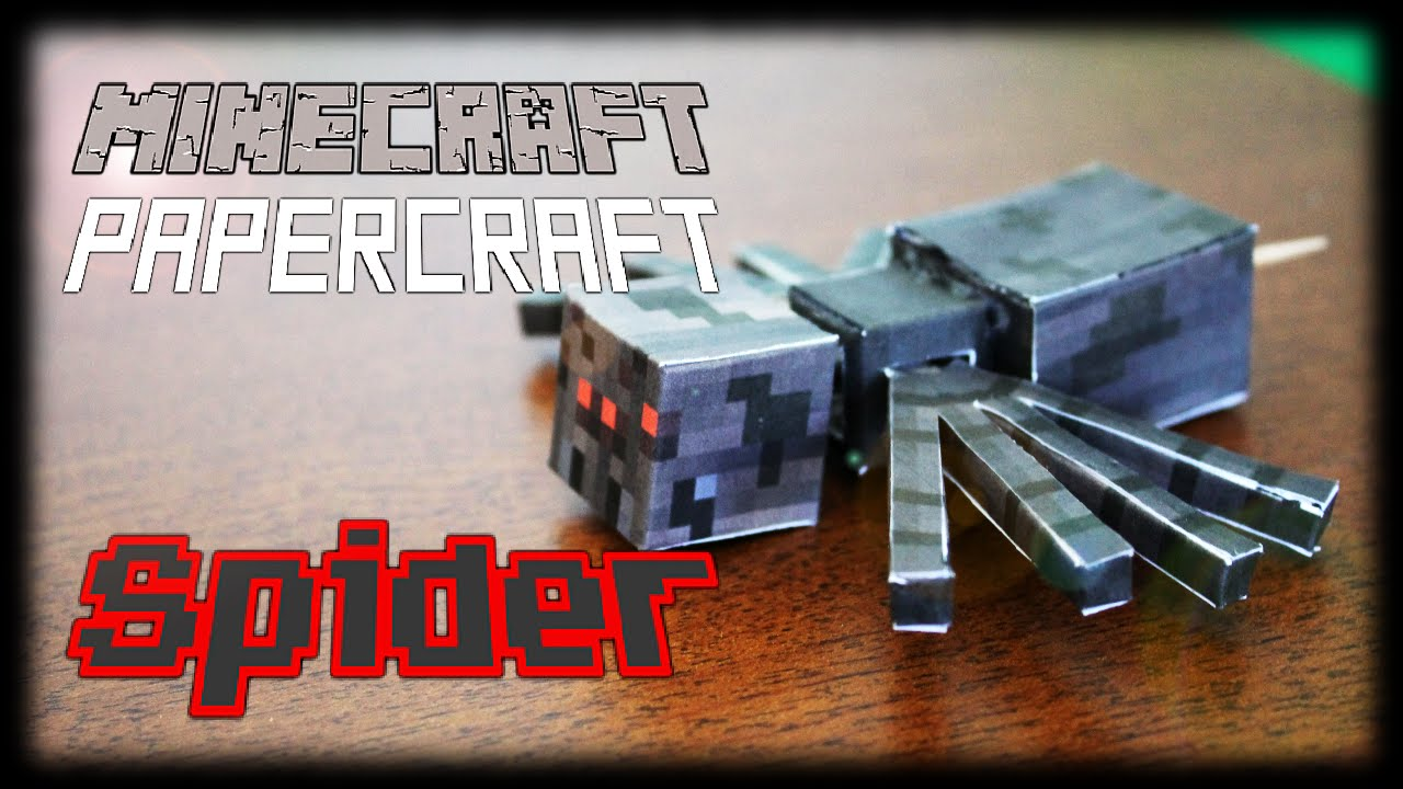 Papercraft How to make a Minecraft Papercraft Spider (Functional Moving Head and Legs)