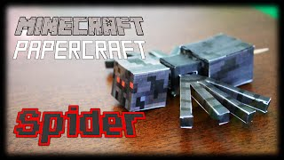 How to make a Minecraft Papercraft Spider (Functional Moving Head and Legs)