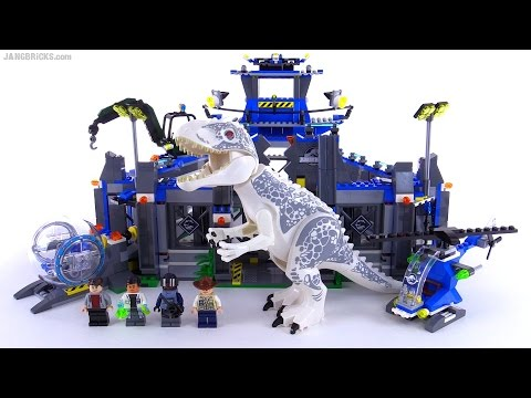 LEGO Jurassic World Indominus Rex Breakout review! set 75919 - YouTube