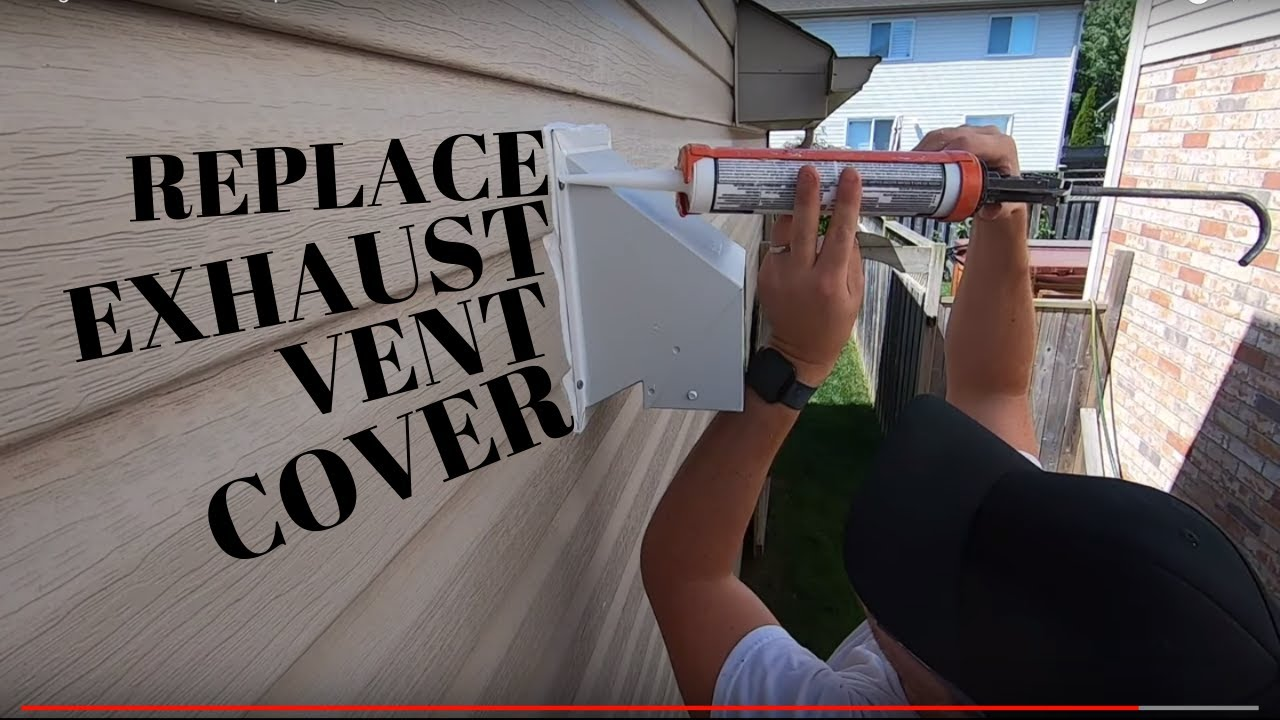 how to replace an exhaust vent cover in vinyl siding