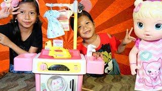 Drama Anak Lucu!! Laundry Baju Kotor - Parodi Anak TK Sambil Unboxing Mainan Anak Mesin Cuci