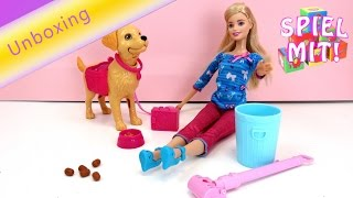 barbie puppen videos deutsch - Barbie und ihr Stubenreines Hündchen - BDH74 Puppe unboxing review