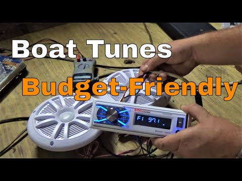Review Boss Marine Stereo And Install MCK1308WB.6