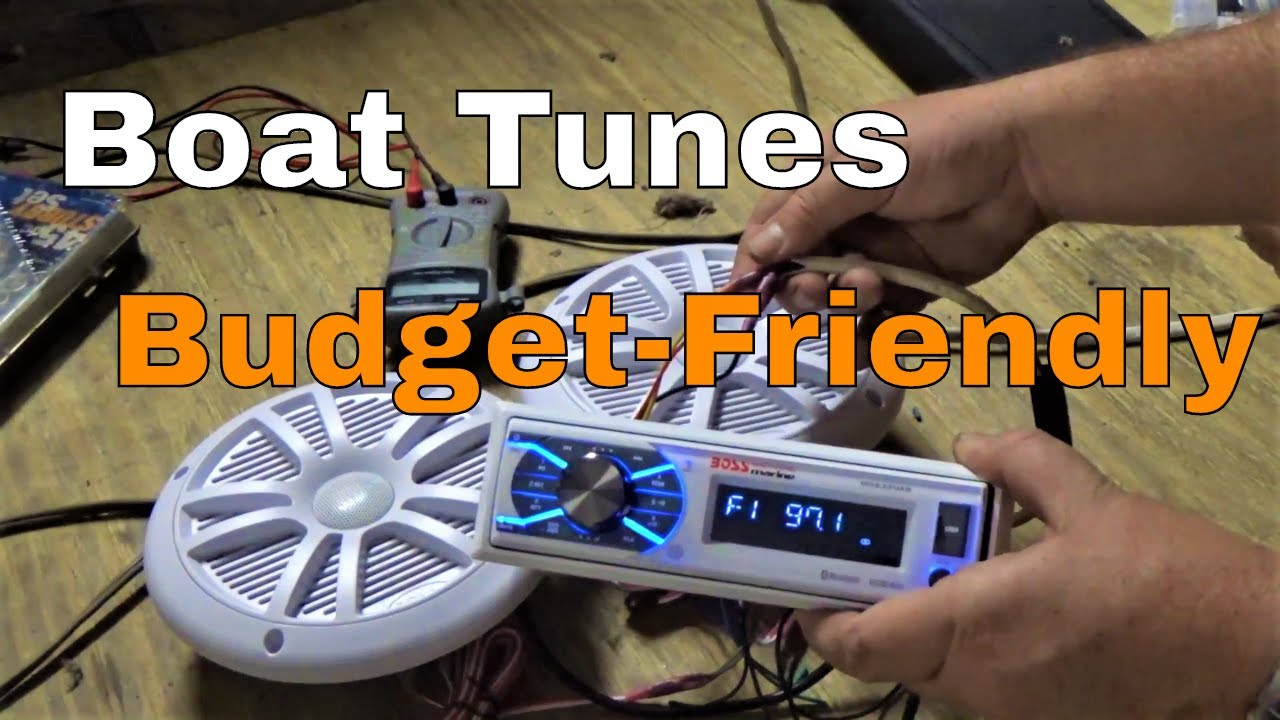 Review Boss Marine Stereo And Install Mck1308wb 6 Youtube
