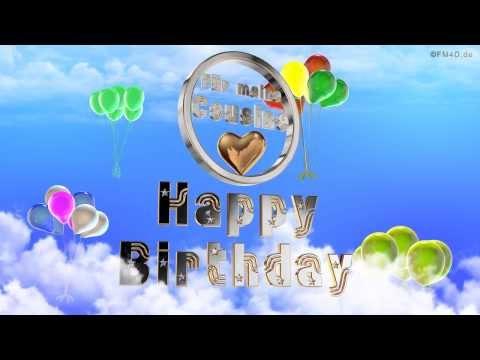Geburtstagskarte Happy Birthday Cousin With Love Alles Gute