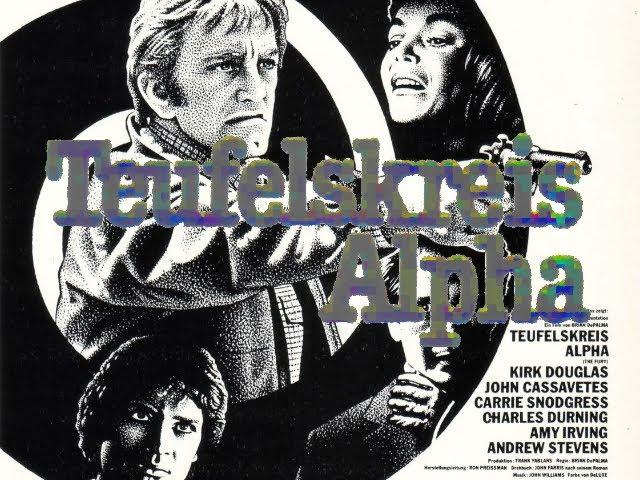 """Teufelskreis Alpha (USA 1978 """"The Fury"""") Trailer deutsch / german VHS"""